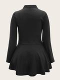 casual jas met ritsen zwart Big & beautyfull_
