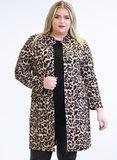 MAGNA BLAZER N-8005 Long Buttoned Blazer 005264 cheetah_