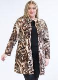 MAGNA BLAZER N-8005 Long Buttoned Blazer 005364 animal brown_