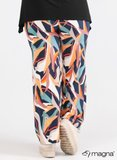 D-0003 - Wide Leg Printed Trouser Z67017 - Art Canvas Blue_