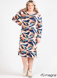 C-9021 - Viscose Printed Basic Long Dress Z67017 - Art Canvas Blue_