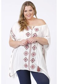 M-9003 poncho embroidery wit