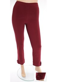 LEGGING MAGNA F-03 Bordeaux rood knoop solid 032