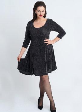 MAGNA JURK/TUNIEK C-6031 - PRINT kl 082-001 Round Neck Dress Glitter Print