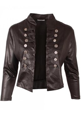 K-5002 MAGNA JACKET K5002- LEATHERLOOK -(zwart)
