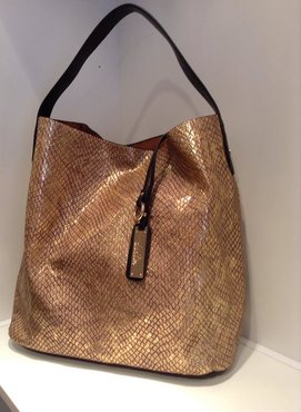 SHOPPERBAG GOLD SNAKE