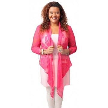 A-36 BIG ROSE BOLERO – FUCHSIA