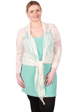 A-36 BIG ROSE BOLERO – ECRU