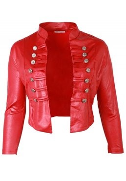 MAGNA JACKET K5002- LEATHERLOOK - ROOD