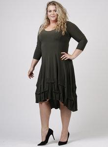 MAGNA JURK / C-6034 - Dress Solid KHAKI 031