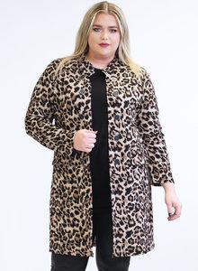 MAGNA BLAZER N-8005 Long Buttoned Blazer 005264 cheetah
