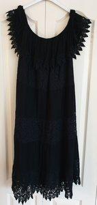 New Collection Ibiza jurkje met boothals zwart