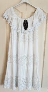 New Collection Ibiza jurkje met boothals wit